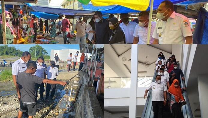 Bupati Halmahera Selatan Sambangi Pasar Moderen