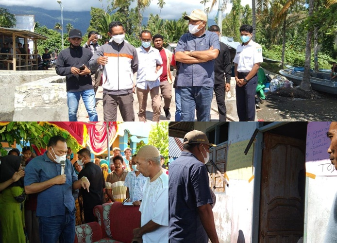 Kantor Desa Kampung Baru Di Palang, Bupati Halmahera selatan Turun Langsung Untuk Menyelesaikannya